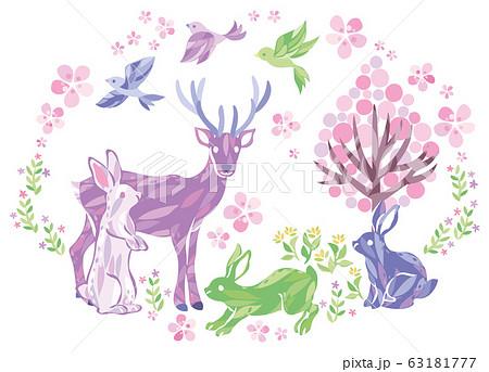 春 動物 イラスト 63181777