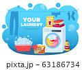 Your Laundry Wash Background 63186734