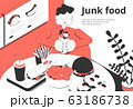 Junk Food Isometric Composition 63186738