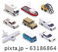 Transport Vehicles Isometric Set 63186864
