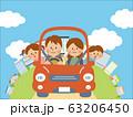 家族でドライブするイラスト 63206450