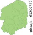 栃木県の地図_市町村別 63209729