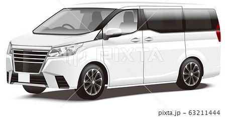 自動車イラスト ミニバン オリジナルデザイン 63211444