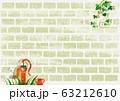 背景素材 ガーデニング 白レンガ 63212610