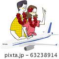飛行機 2人 南国 63238914