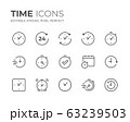 Time & Clock Line Icons Set 63239503