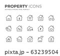 Property Line Icons Set 63239504