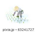 田植え 水彩画 63241727