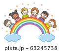 子供 頬杖 虹 63245738