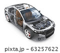 Transparent body car and interior parts 63257622