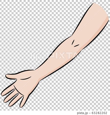 人体部位手臂彩色卡通插画素材 63282202