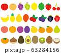 手描き風かわいいフルーツセット 63284156