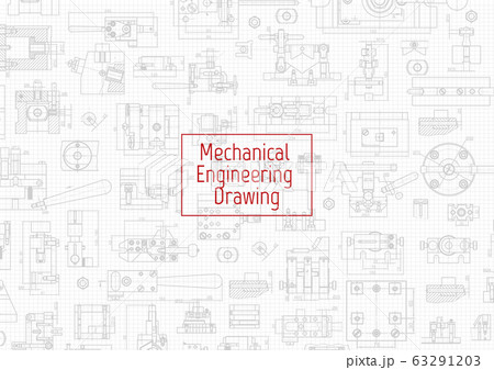 Engineering backgrounds. Mechanical engineering drawings. Cover. Banner. Technical Design. Draft. 63291203