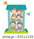 二世帯住宅 三世代家族 63311159