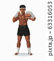 Thailand boxer in the fight pose, Vector 63316053