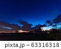 歴史的な日本の城 夕暮れの空  古城 夕焼け  63316318