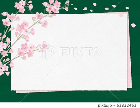 背景素材_黒板とサクラ 63322463