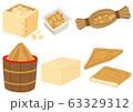 大豆製品のセット 味噌 納豆 豆腐 油揚げ 63329312