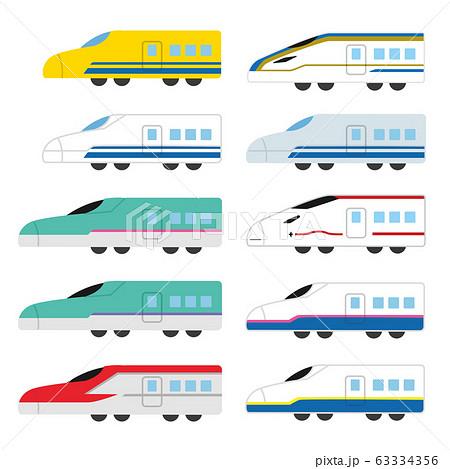 かわいい新幹線セット 63334356