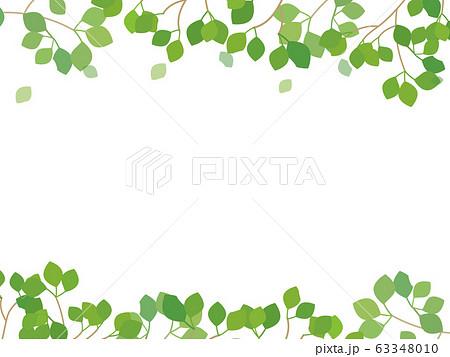 新緑のイラスト フレームメッセージカード 63348010