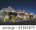 街並み夜桜 63363875