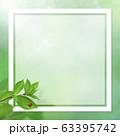 背景-ナチュラル-葉-グリーン-フレーム-春-初夏-夏-てんとう虫 63395742