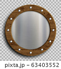 Metal plate in a wooden frame.  63403552
