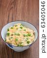 グリーンピースの卵とじ御飯 63405046