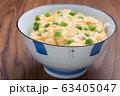 グリーンピースの卵とじ御飯 63405047