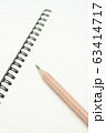 鉛筆とノート 63414717