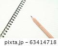 鉛筆とノート 63414718