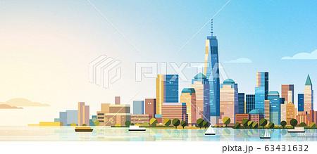 Manhattan west skyline scene 63431632