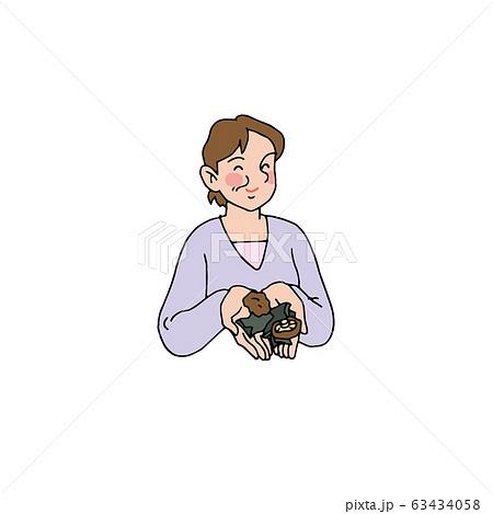 昆布や椎茸で出汁をとる奥さん 63434058