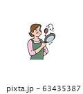 フライパンを煽る奥さん 63435387