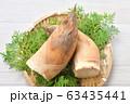 注意)背景に汚れや小キズが残ります。春の食材、筍、たけのこ、竹の子、タケノコ。 63435441