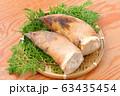 注意)背景に汚れや小キズが残ります。春の食材、筍、たけのこ、竹の子、タケノコ。 63435454