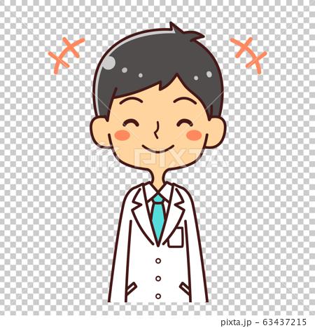 의사 닥터 젊은 남성 미소 일러스트 63437215