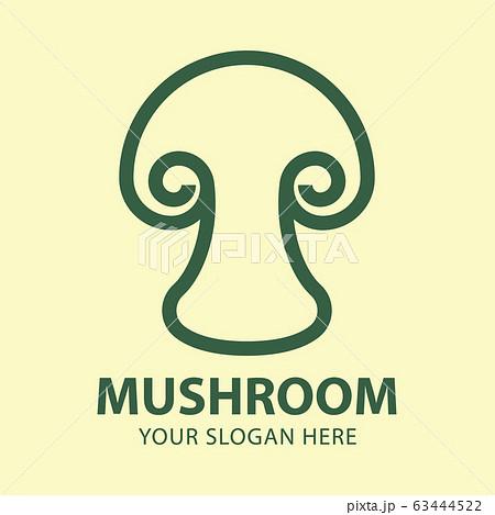 Abstract mushroom logo for company vector 63444522