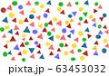 水彩 幾何学模様 丸 三角 背景 63453032
