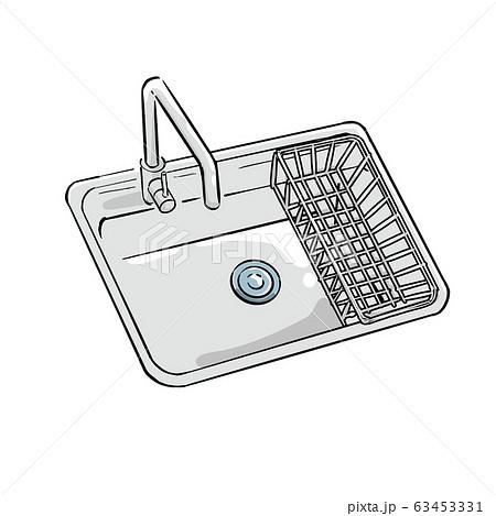 シンク キッチン イラスト 手描き 63453331