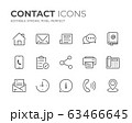 Contact Line Icons Set 63466645