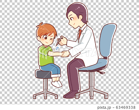 Male doctor and child 63469338