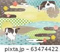 富士山と牛 63474422
