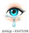 Eye with tears 63475298