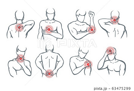 Vector body painful parts 63475299