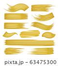 Golden brushstrokes set on white 63475300