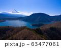 本栖湖と富士山空撮 63477061