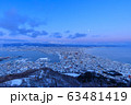 北海道_絶景冬の函館夕景 63481419