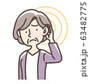 難聴など おばあさん 63482775