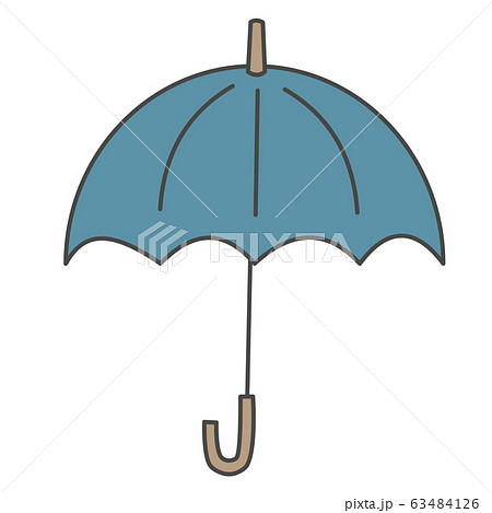 青い雨傘のイラスト 63484126